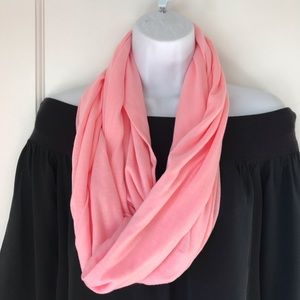 Accessories - Pink Knit Infinity Scarf with Hidden Zip Pocket